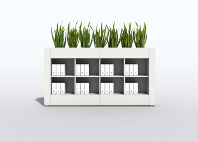 Bookcase, Planter & Locker Storage 9