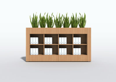 Bookcase, Planter & Locker Storage 1