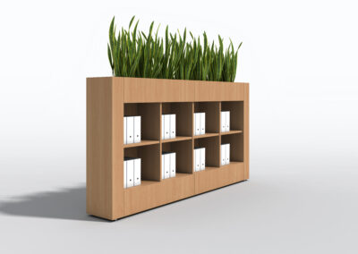 Bookcase, Planter & Locker Storage 2