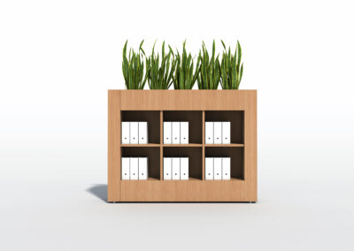 Bookcase, Planter & Locker Storage 3