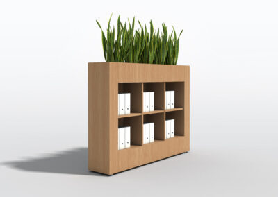 Bookcase, Planter & Locker Storage 4