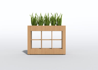 Bookcase, Planter & Locker Storage 5
