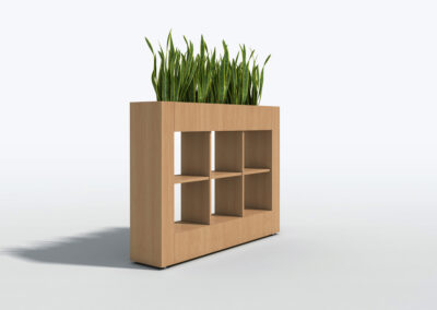 Bookcase, Planter & Locker Storage 6