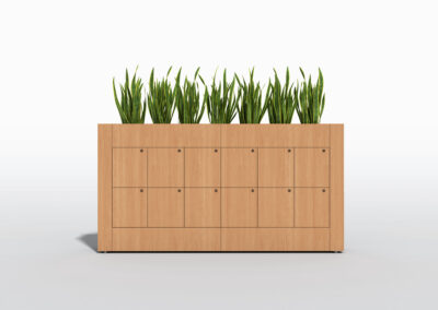 Bookcase, Planter & Locker Storage 7