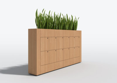 Bookcase, Planter & Locker Storage 8