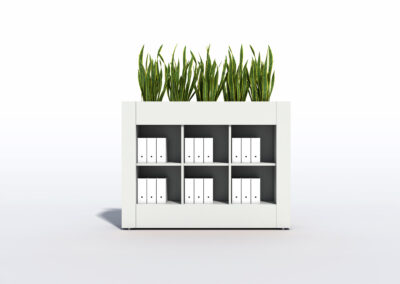 Bookcase, Planter & Locker Storage 11