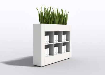 Bookcase, Planter & Locker Storage 12