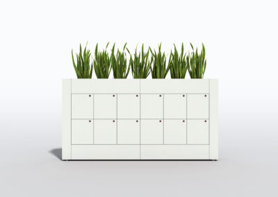 Bookcase, Planter & Locker Storage 15