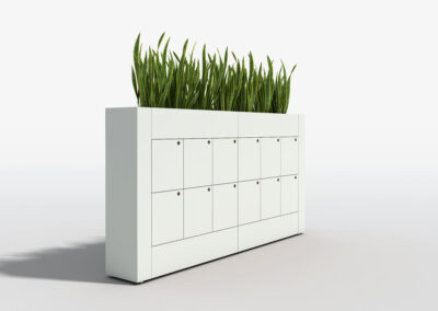 Bookcase, Planter & Locker Storage 16